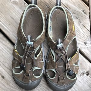 Keen Venice Sandals Brown Leather Water Shoe